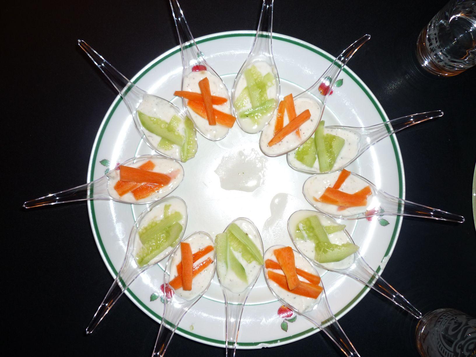 amuses bouche concombre carotte