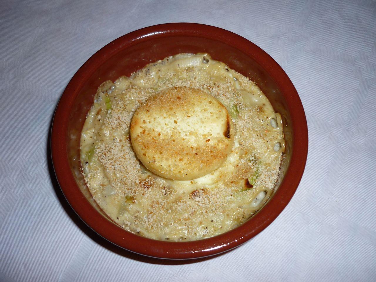 chèvre chaud fondue de poireaux