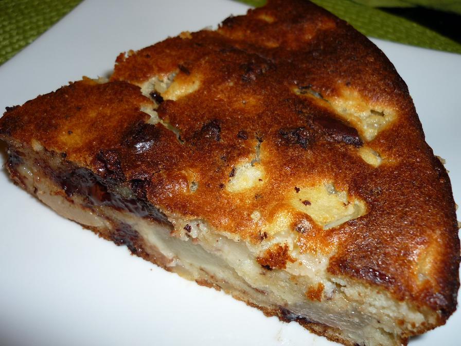 part gâteau poire chocolat