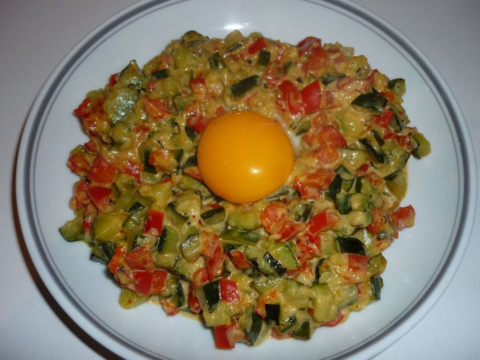 poivrons courgettes oeuf