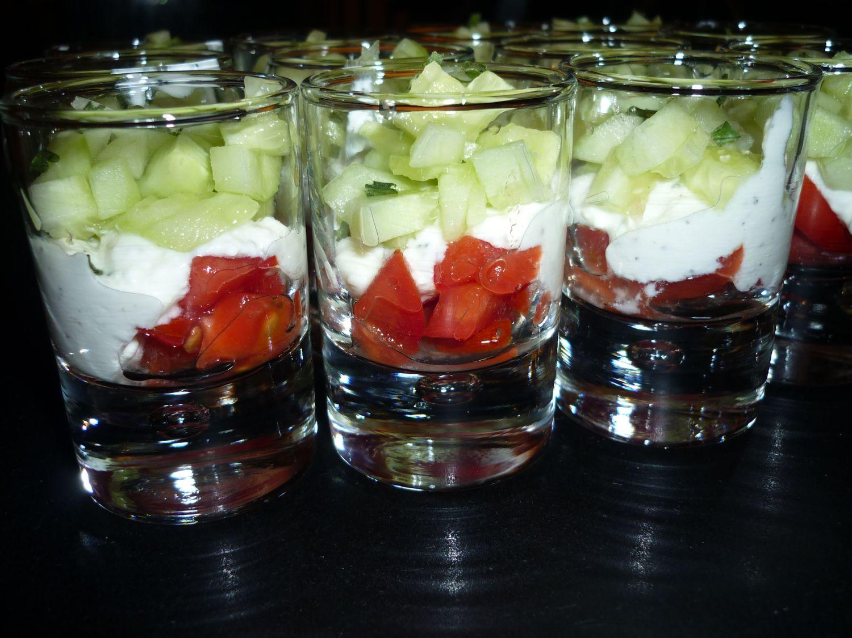 verrines tomate concombre