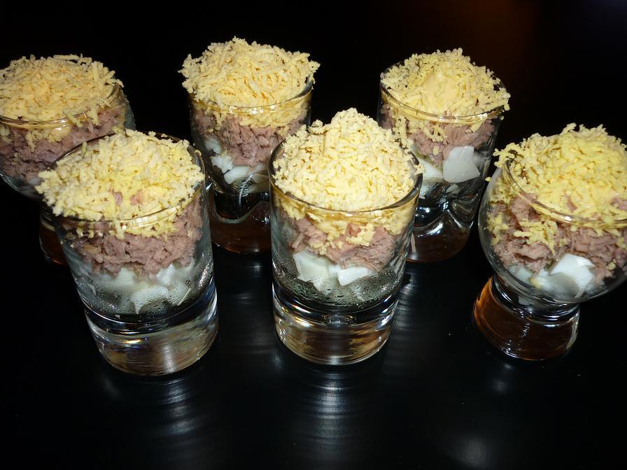 verrines oeufs thon mimosa