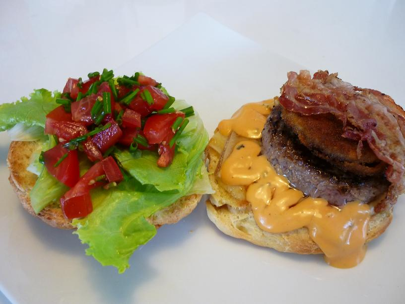 hamburger bacon cheeseburger