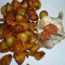 lotte chorizo pommes de terre girolles