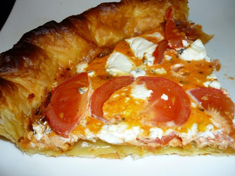part tarte chevre tomate