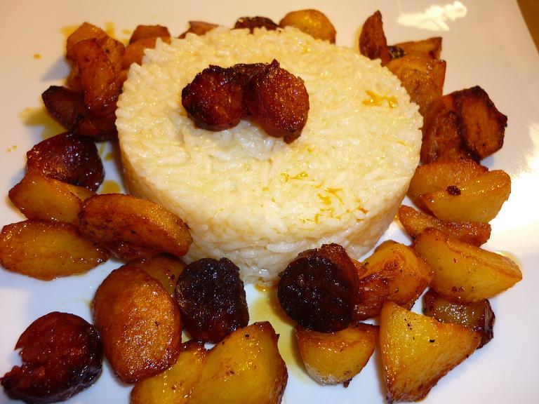 riz chorizo pommes de terre