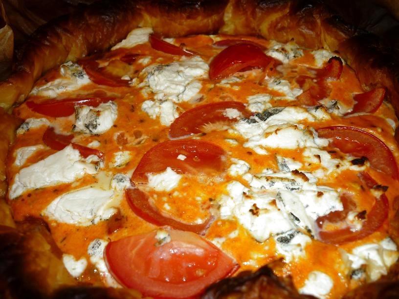 tarte chevre tomate