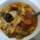 Soupe Chou Chorizo Champignons
